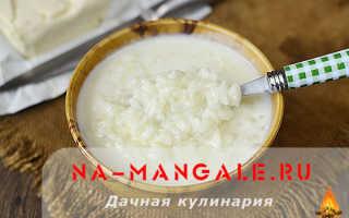 Рецепт молочного супа с рисом на молоке