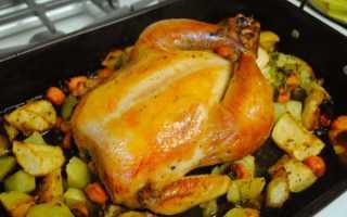 При какой температуре выпекать курицу в духовке