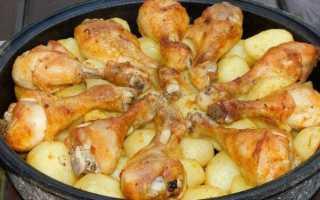 Рецепты куриных ножек с картошкой в духовке