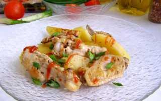 Рецепты куриных крылышек в духовке с картошкой