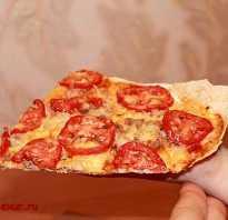 Пицца на лаваше с курицей