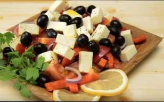 Рецепт греческого салата классический с брынзой