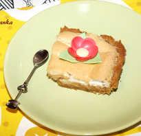 Пирог из печенья и яблок