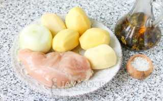 Рецепт курицы с картошкой на сковородке