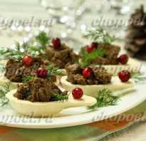 Паштет с печенью и грибами