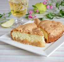 Рецепт яблочного бисквитного пирога в духовке