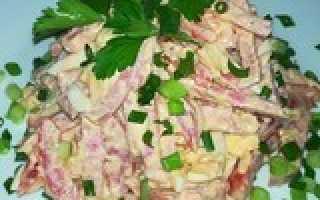 Простые салаты из колбасы на скорую руку