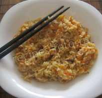 Рис с имбирем рецепт