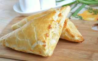 Пирог хачапури с сыром из слоеного теста