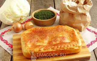 Пирог с капустой и рыбным фаршем
