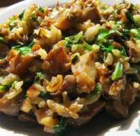 Рис с грибами морковью и луком