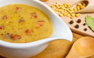 Рецепт горохового супа с мясом в мультиварке